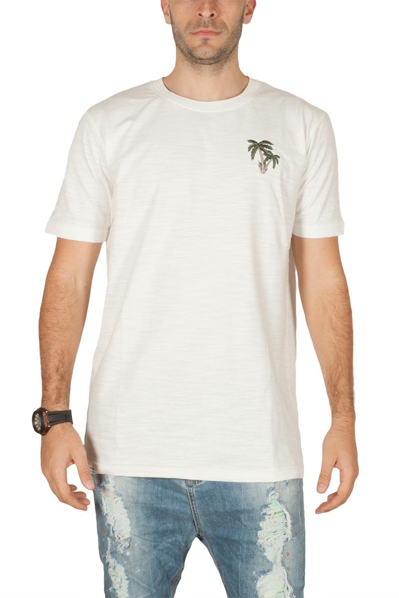 Anerkjendt Rod ανδρικό t-shirt λευκό με κέντημα - 9218322