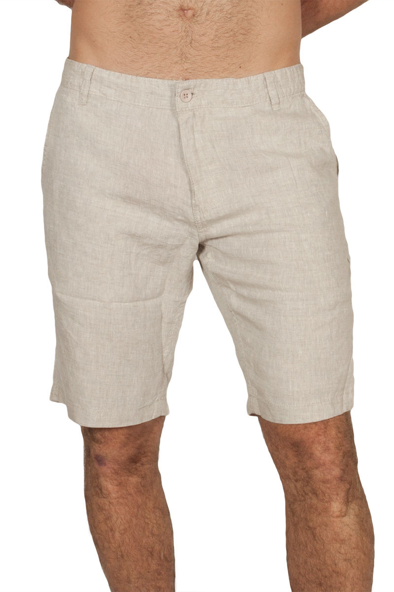 Anerkjendt Shorty cotton-linen mix βερμούδα εκρού