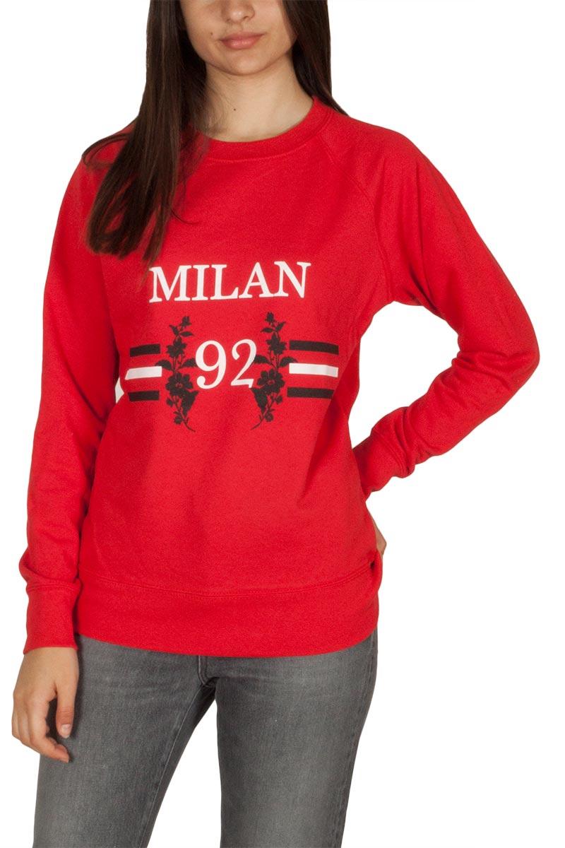 Daisy Street γυναικείο φούτερ κόκκινο Milan print