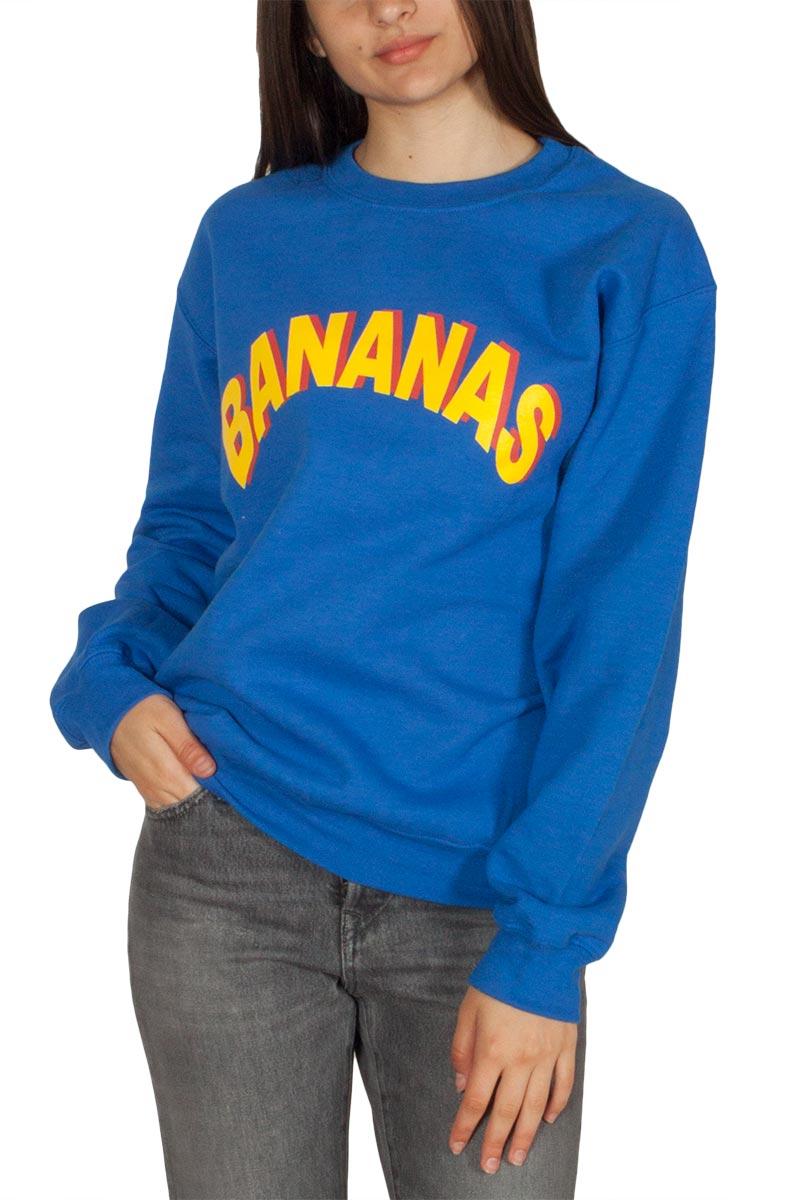 Daisy Street γυναικείο boyfriend φούτερ μπλε Bananas print - nbt-784