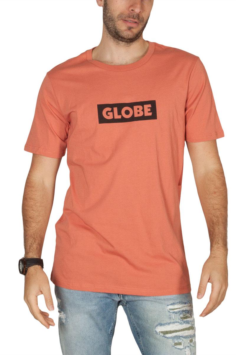 Globe Box ανδρικό t-shirt κοραλί