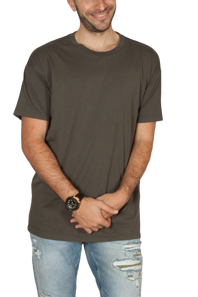 Globe ανδρικό t-shirt Goodstock λαδί - gb01711002-woodgrn