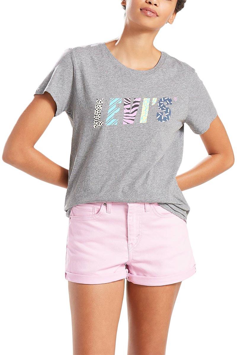 Γυναικείο LEVI'S® graphic t-shirt γκρι μελανζέ