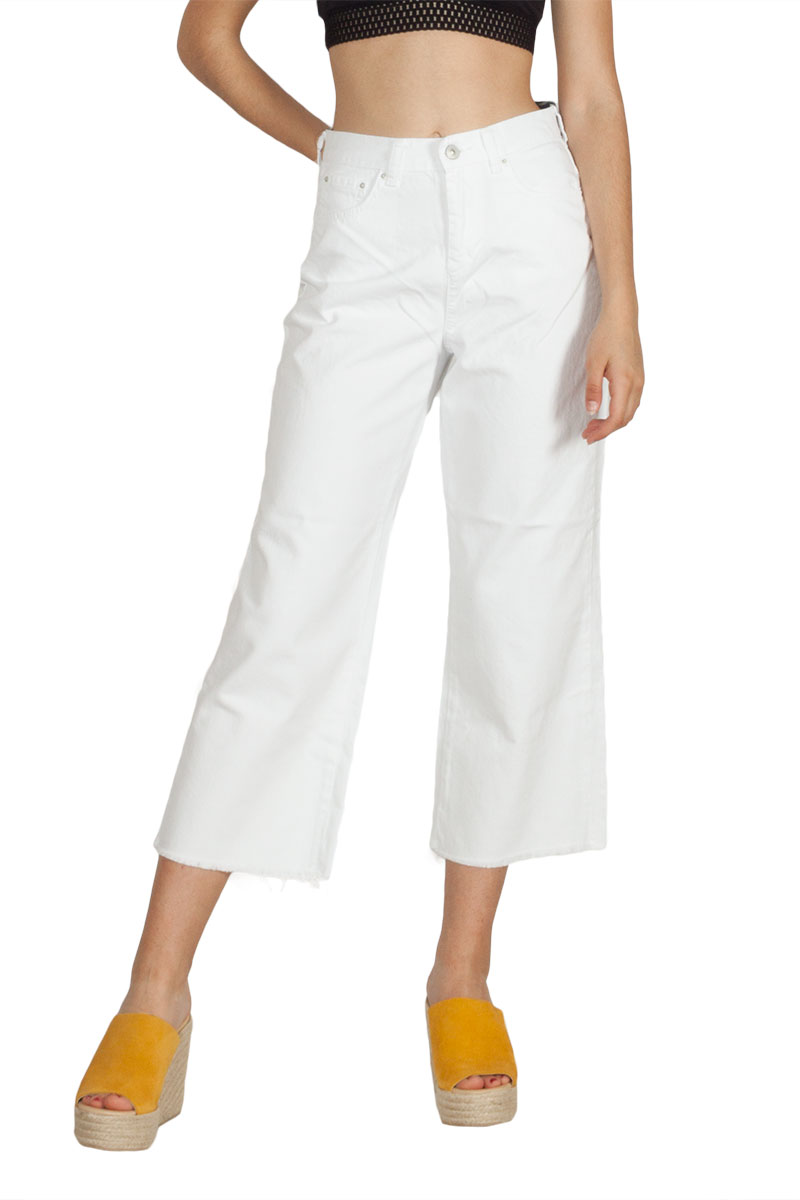 LTB Dandy ντένιμ ζιπ κιλότ λευκή γυναικεια     jeans