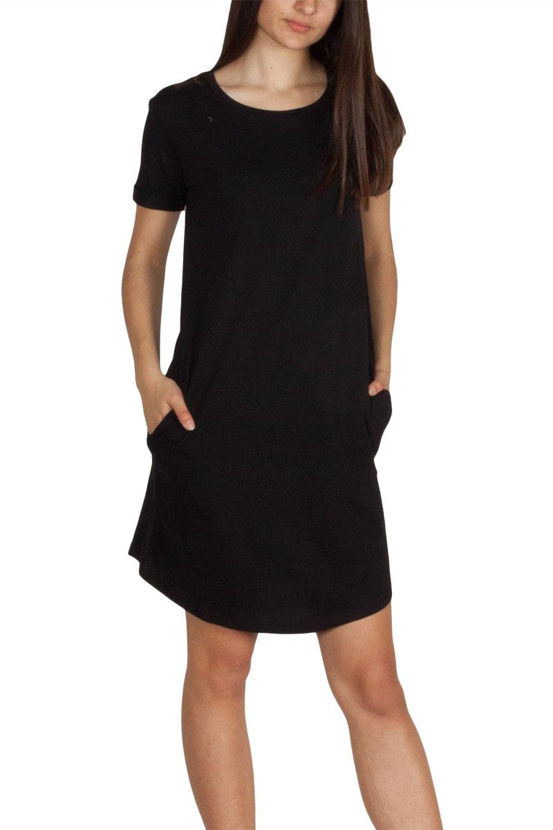 LTB Najamo κοντομάνικο μίνι φόρεμα μαύρο - w83055-blk