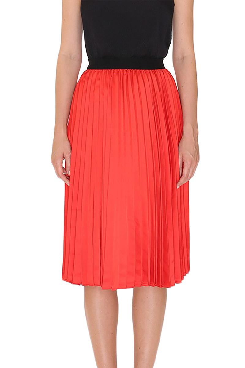 Pepaloves Iskra plisse skirt red