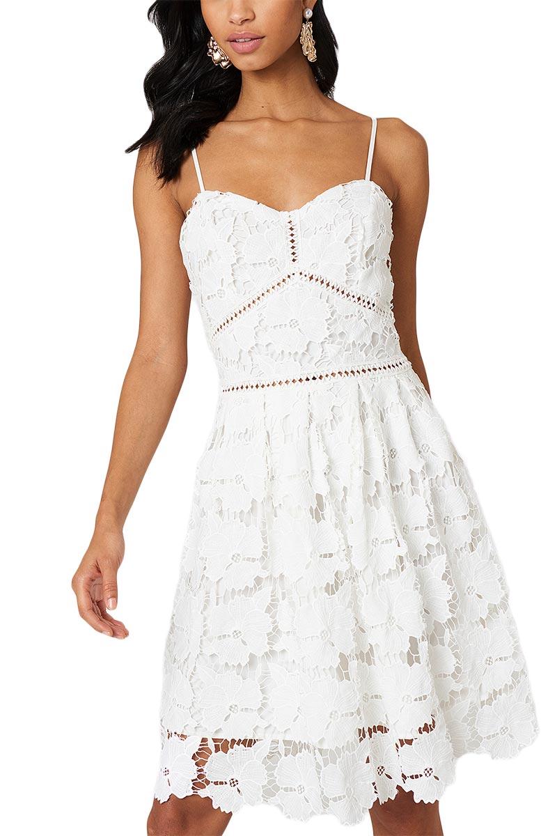 98a90febc862 Rut   Circle τιραντέ φόρεμα δαντέλα λευκό