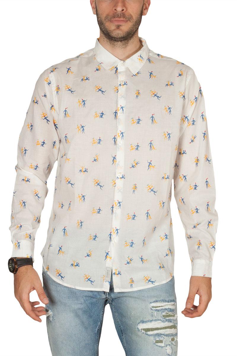 Thinking Mu ανδρικό πουκάμισο λευκό Kamasutra - Cocolia