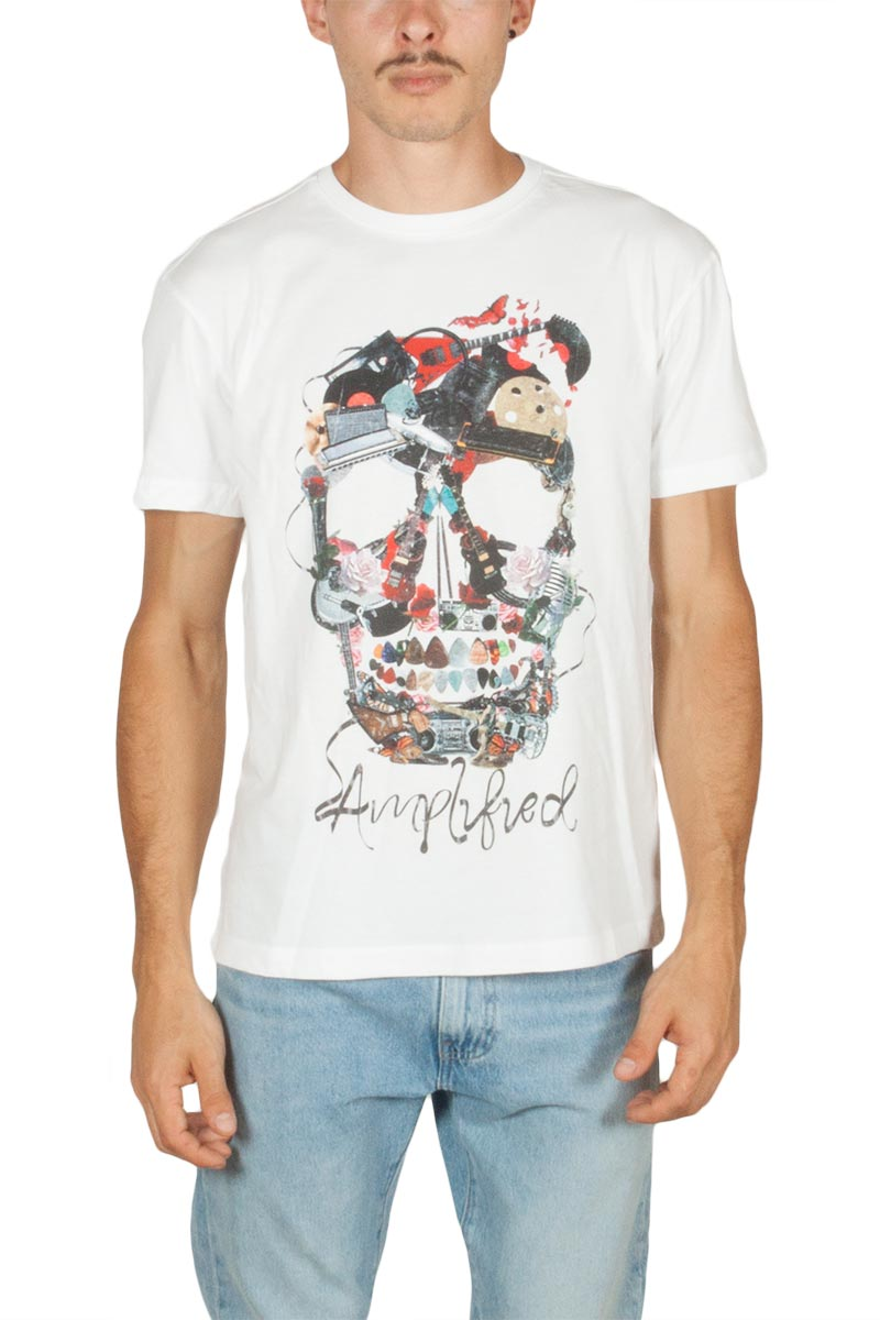 Amplified Plectrum skull t-shirt λευκό - zav273psa