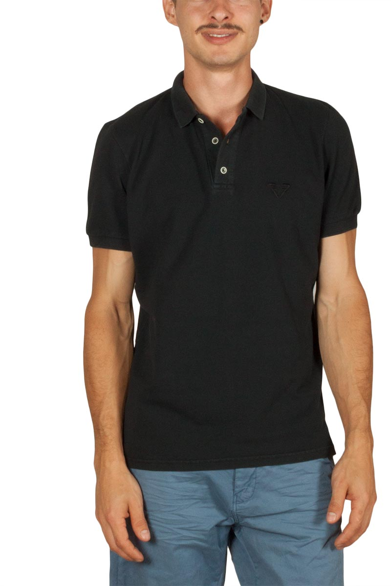 Best Choice ανδρικό polo t-shirt πικέ μαύρο - s18086-beam-blk