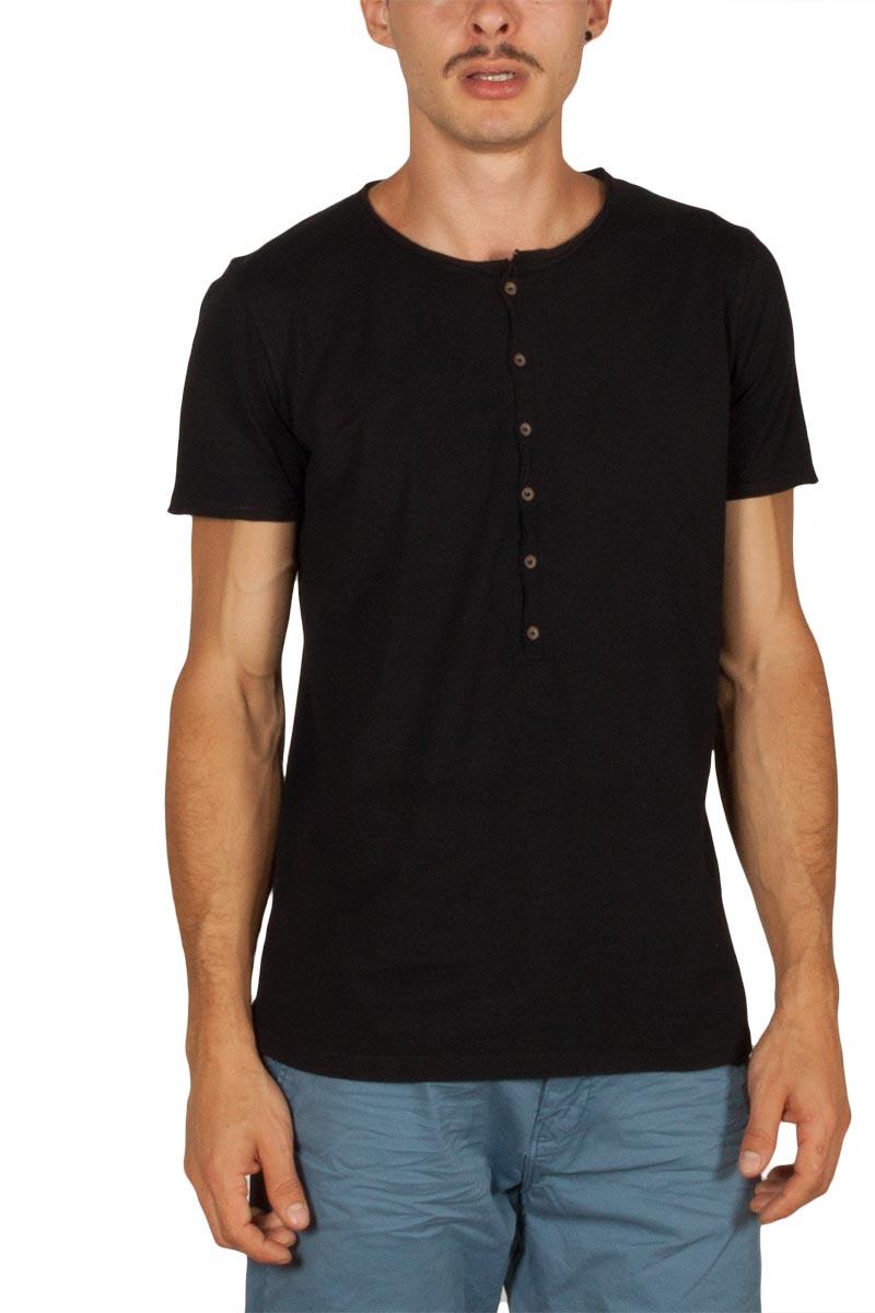 0c3d7261ef64 Best Choice ανδρικό Henley t-shirt μαύρο - s18088-quest-blk