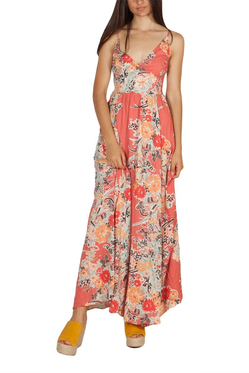 Free People Through the vine τιραντέ μάξι φόρεμα κόκκινο φλοράλ - ob815006