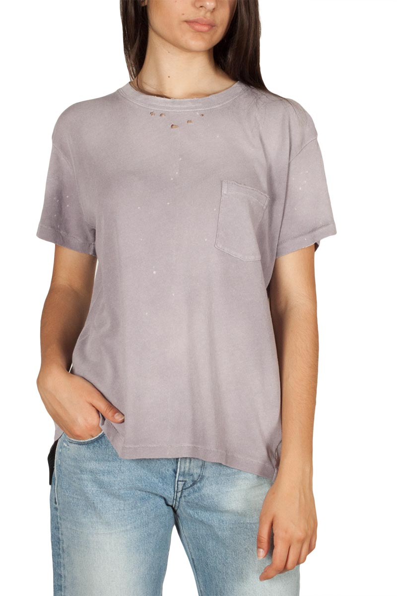 10643d43973 Free People vintage t-shirt λιλά με τσεπάκι