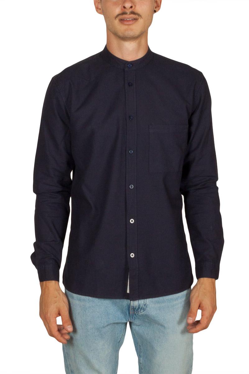 Minimum Ishak ανδρικό Μάο πουκάμισο navy - 161572062-bl