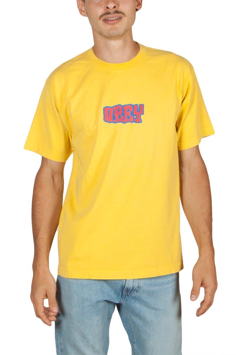 Obey Better days ανδρικό box t-shirt κίτρινο
