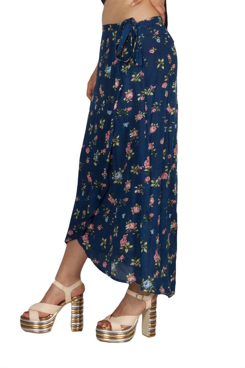 Rut & Circle Zoley κρουαζέ φούστα μπλε φλοράλ