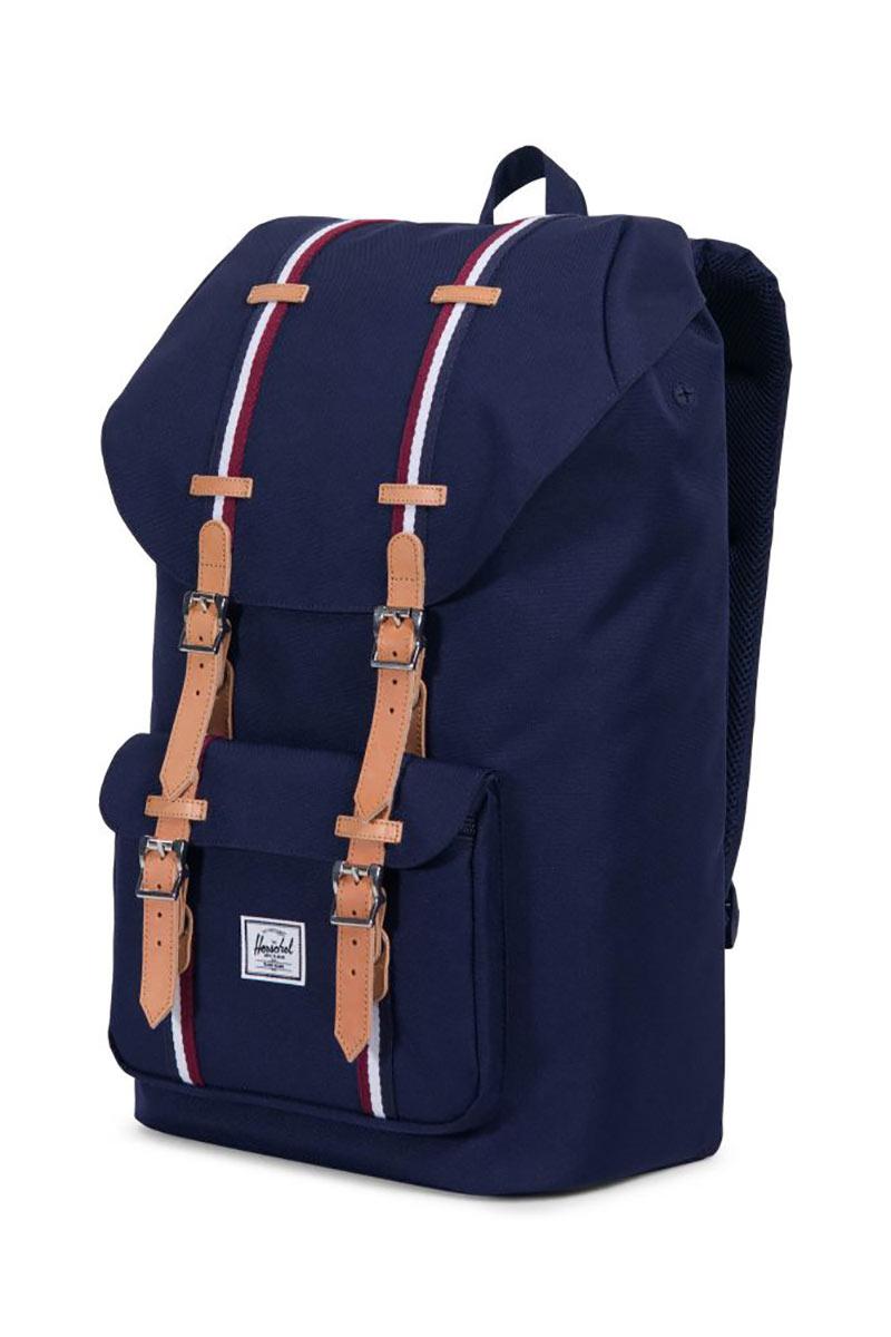 Herschel Supply Co. Little America Offset backpack peacoat/windsor wine/white
