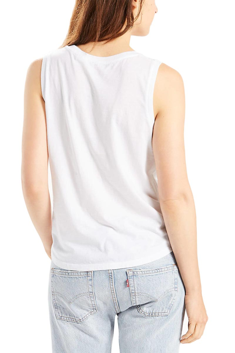 LEVI'S muscle tank white