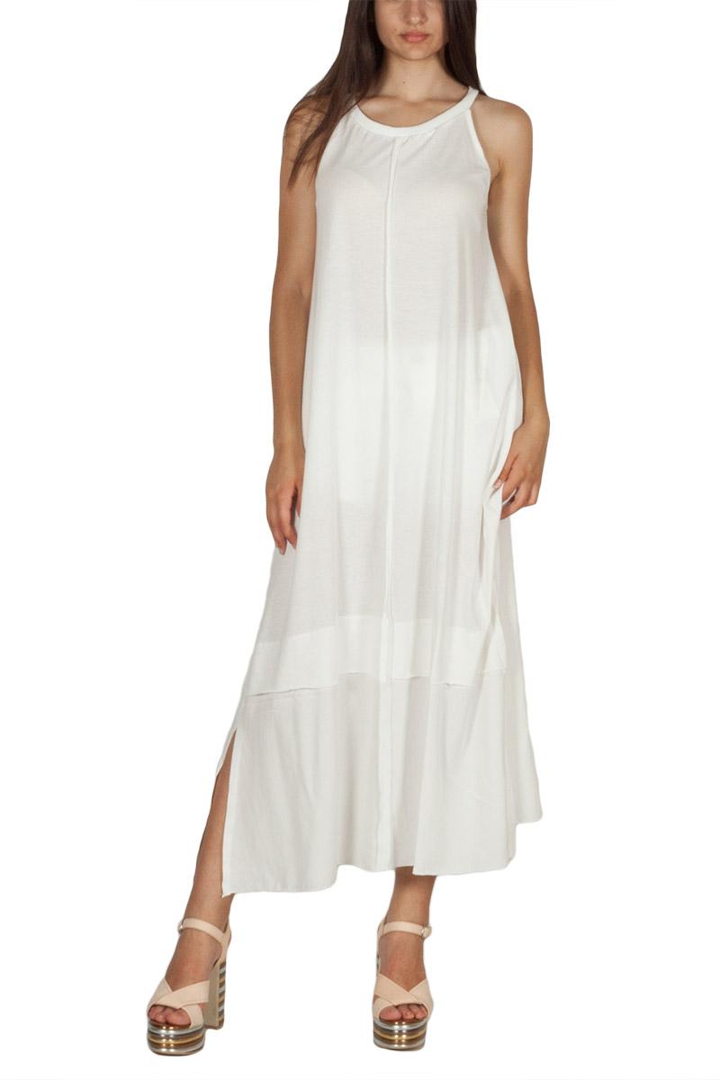 Lotus Eaters Miramar μακρύ φόρεμα λευκό με παρτούς ώμους - le-miramar b10fa5a13aa