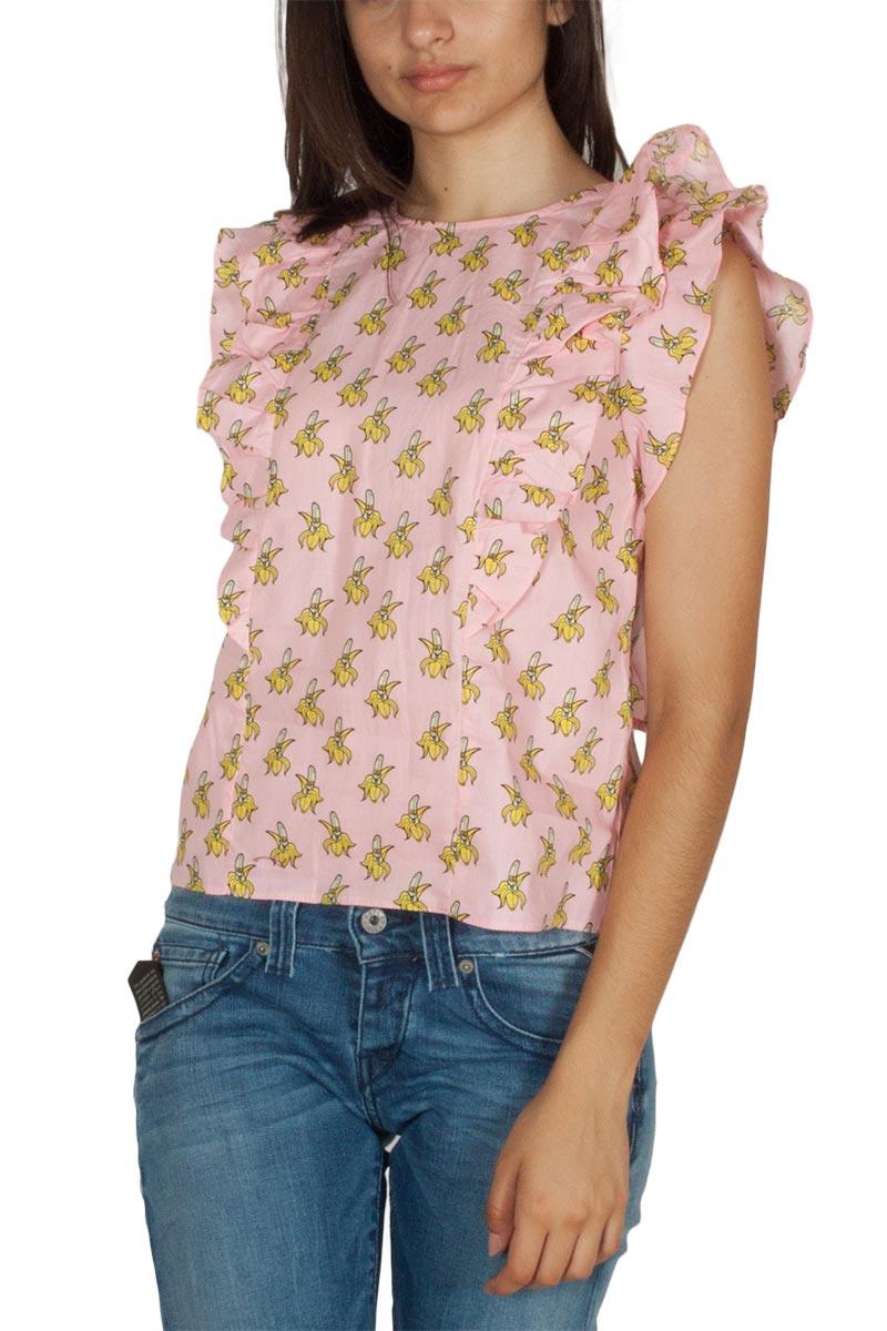 6dd433601c47 Migle + me αμάνικη μπλούζα ροζ με άνοιγμα στην πλάτη - la-tp221b