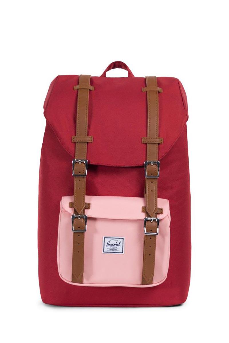 cdd735028da Herschel backpack Little America mid volume brick red peach