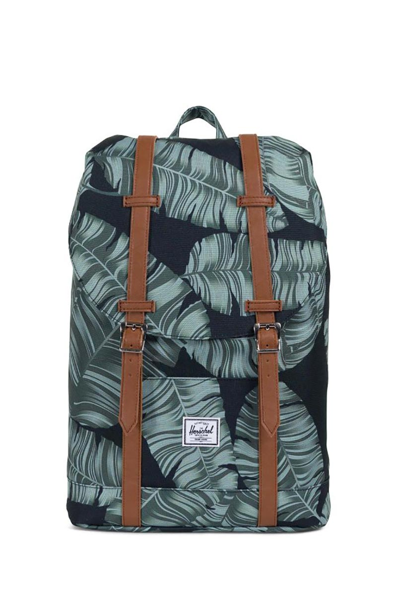 Herschel Supply Co. Retreat mid volume backpack black palm/tan