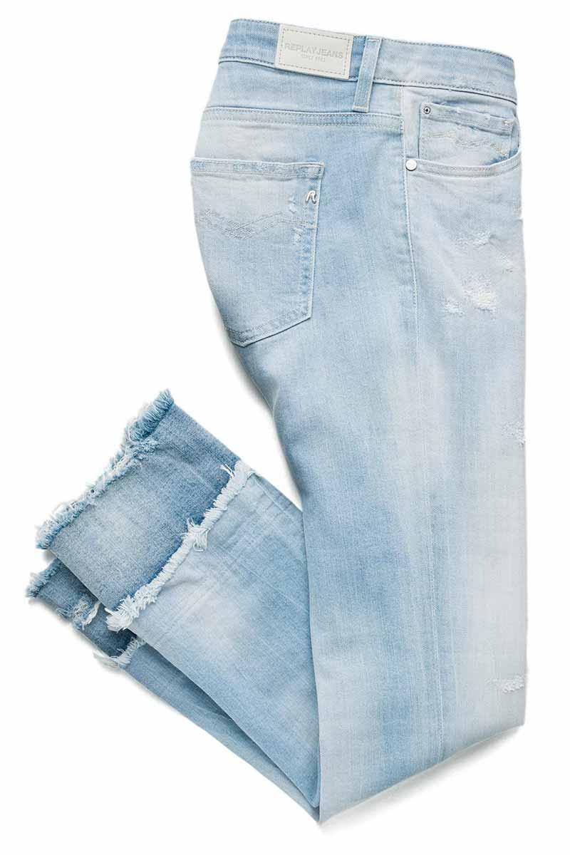 Replay Dominiqli slim fit jeans light denim blue