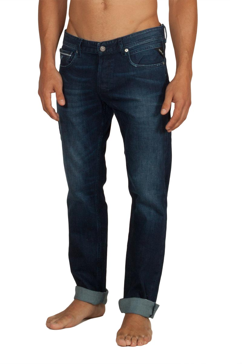Replay Grover straight fit jeans blue - ma972-000-31d130-007