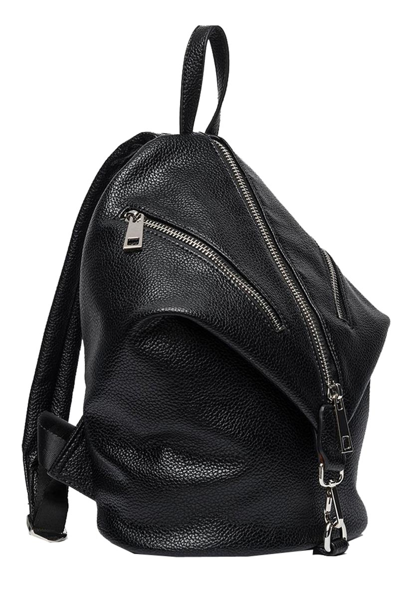 34ea54867a Replay women s faux-leather fold-over backpack black
