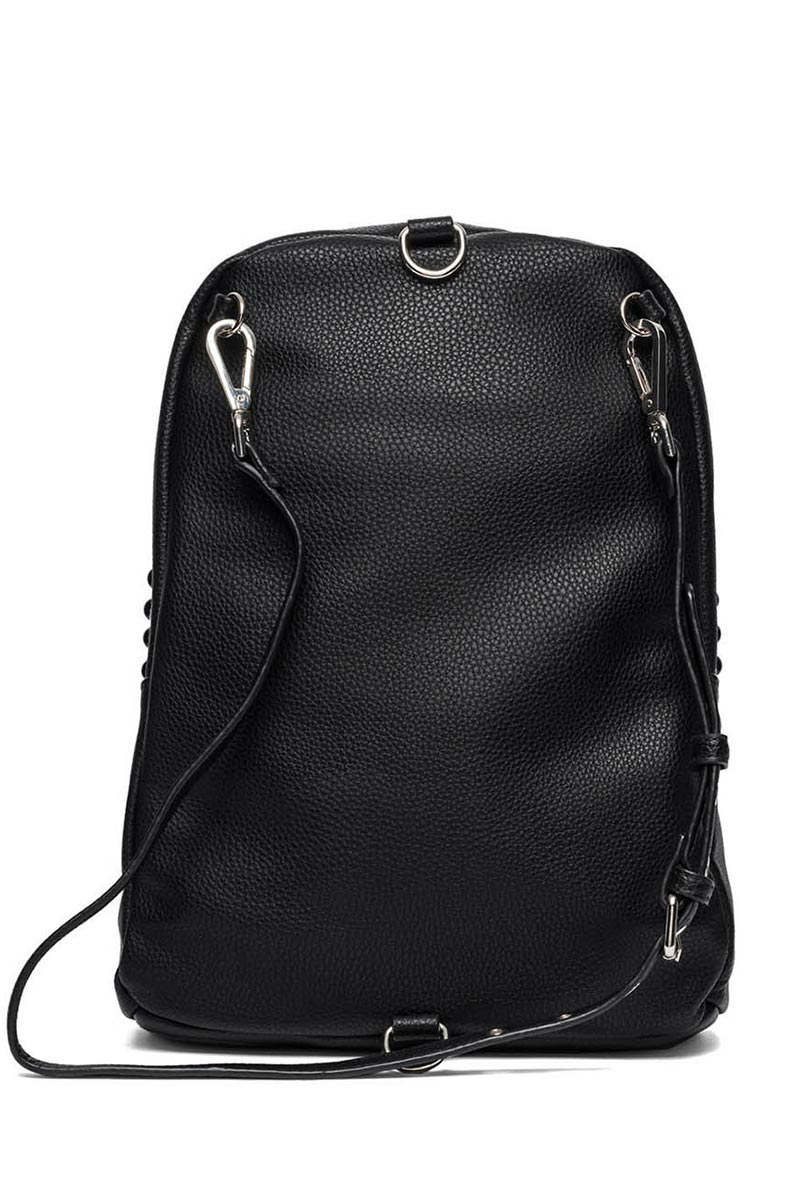 19719eb1d2 Replay women s studded faux-leather backpack black