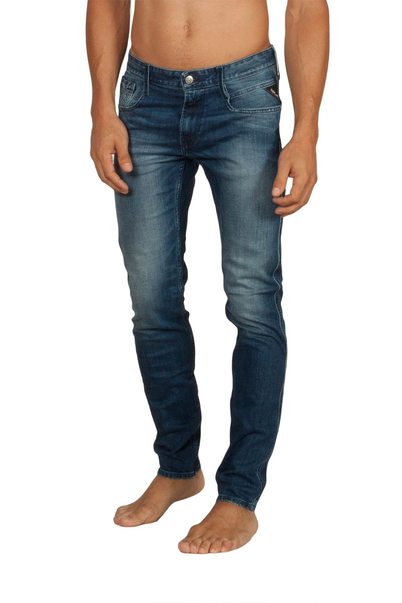 Replay Anbass slim fit stretch jeans blue - m914y-000-31d133-009