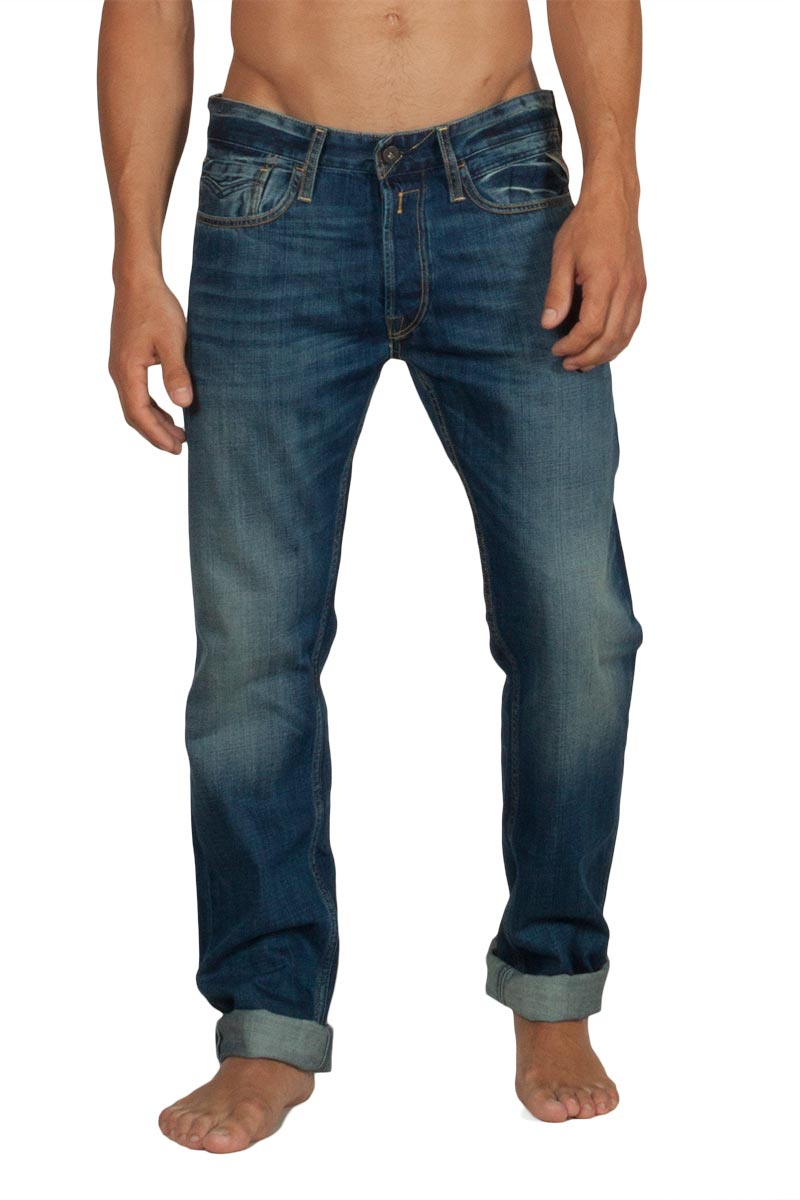 Replay Newbill comfort fit jeans deep blue - ma955-000-606308-009