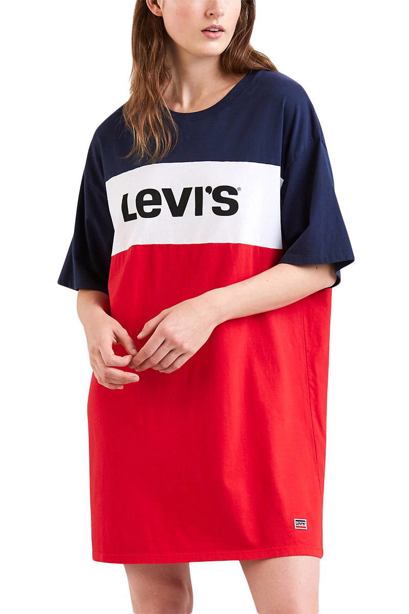 Levi's sportswear colorblock slacker t-shirt dress - 58919-0000