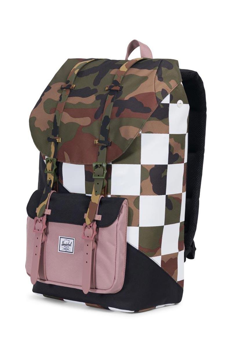 Herschel Supply Co. Little America Kaleidoscope backpack woodland camo/ash rose/checker