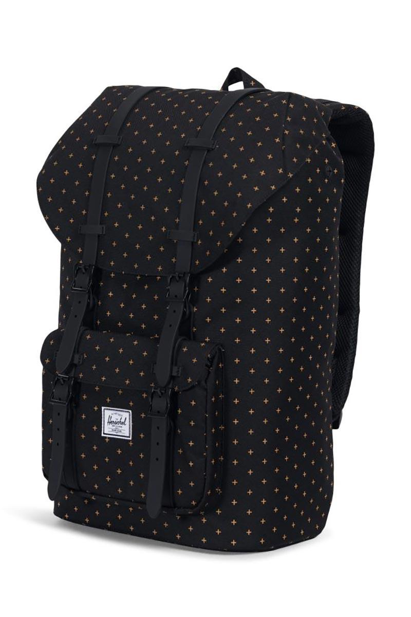 Herschel Supply Co. Little America backpack black gridlock gold