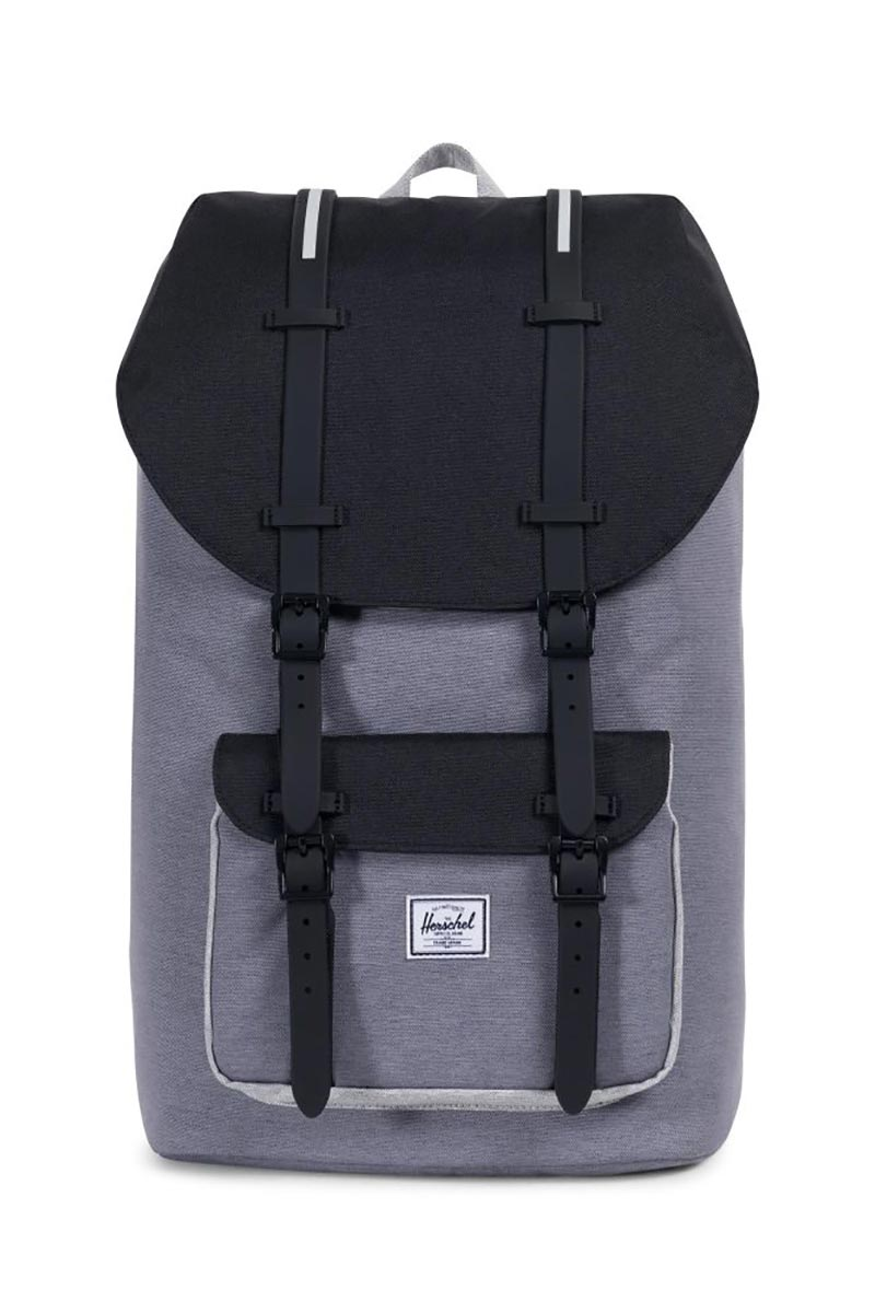 ef09e0727d2 Herschel backpack Little America mid grey crosshatch black light grey  crosshatch