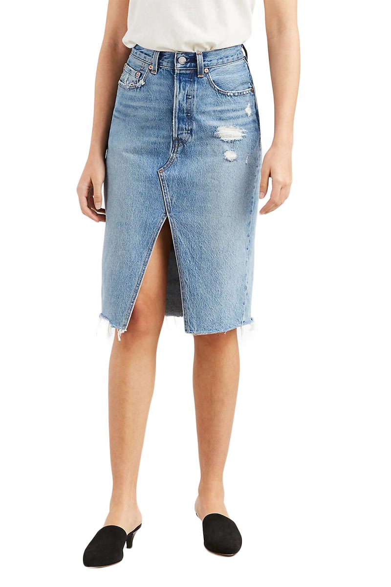 Levi's deconstructed long skirt original sinner - 57964-0000