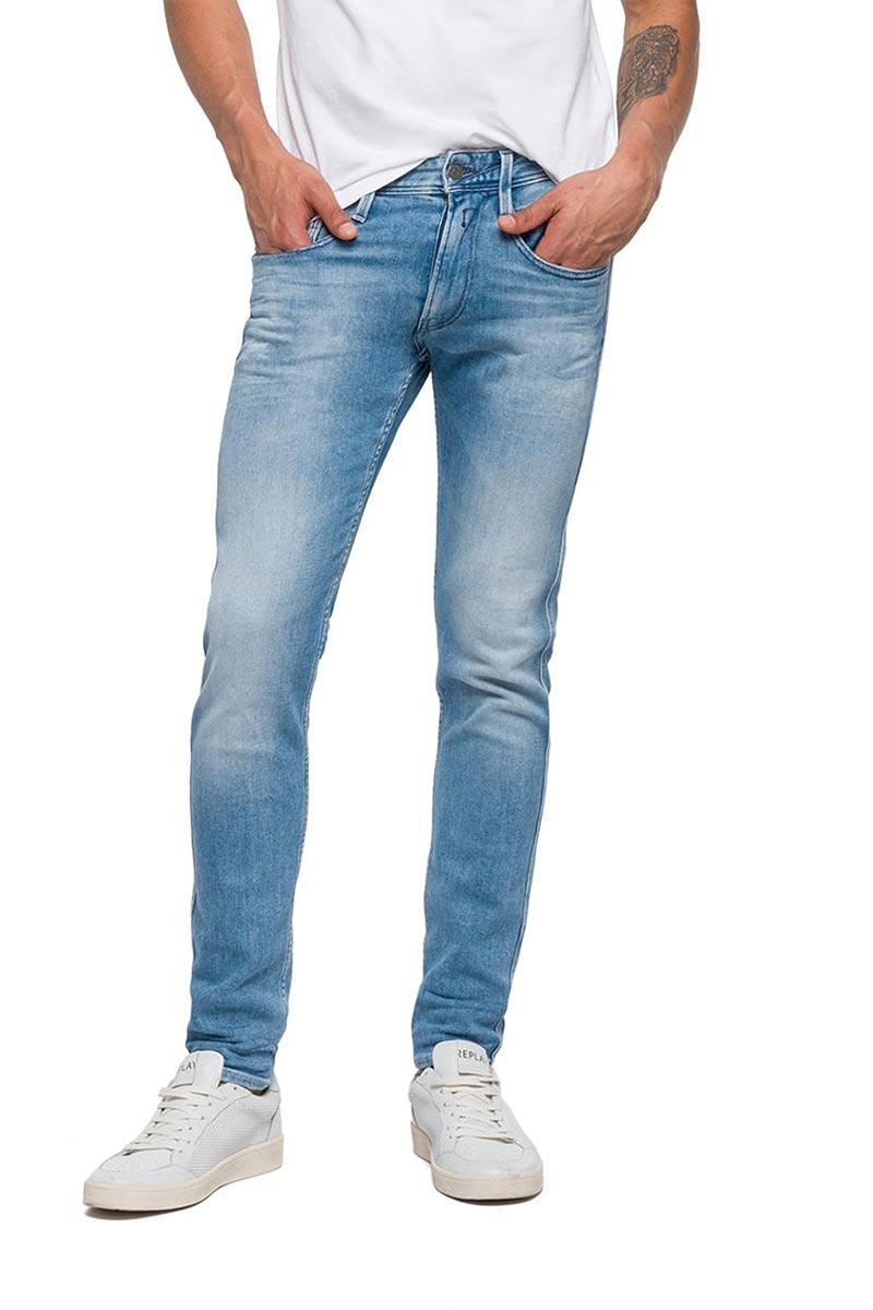 Replay Anbass slim fit jeans indigo wash - m914-000-101-263-011