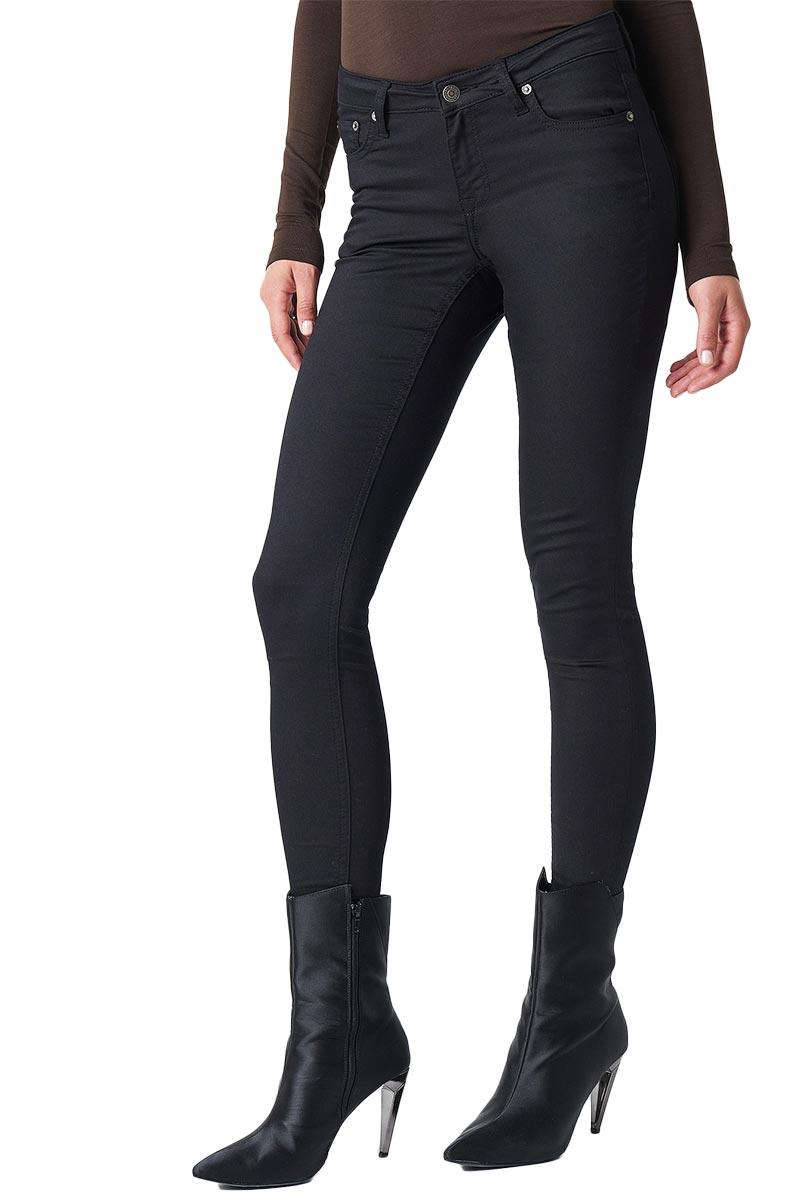 Rut & Circle Ellie ψηλόμεσο skinny παντελόνι μαύρο - 1031-005159-0002