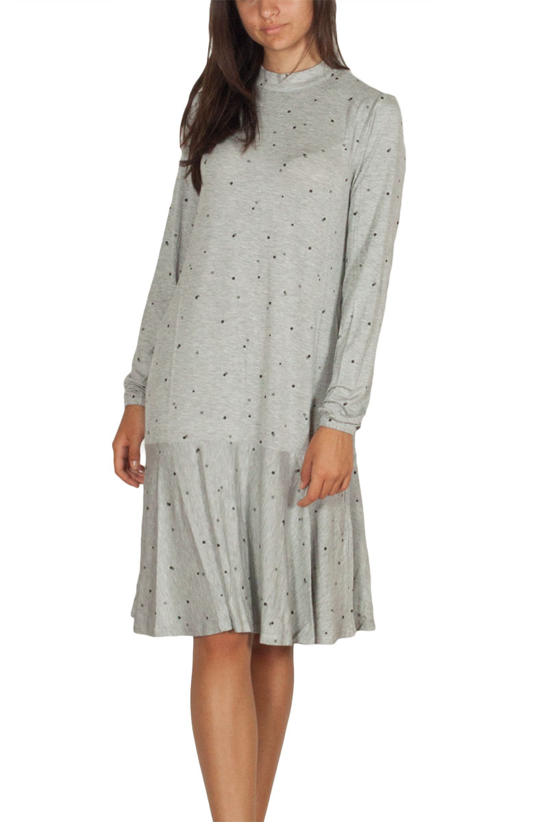 Soft Rebels Sky long sleeve dress light grey