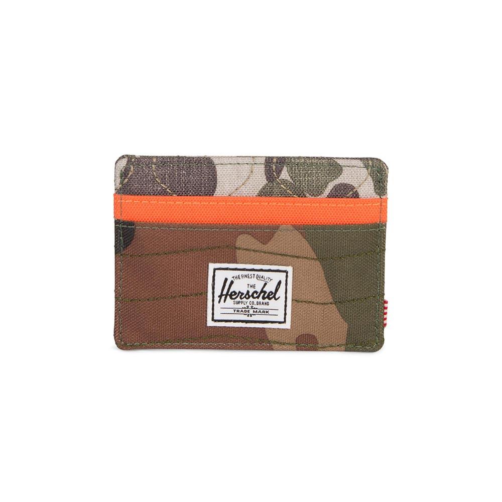 Herschel Supply Co. Charlie RFID wallet woodland camo/vermillion orange/frog camo