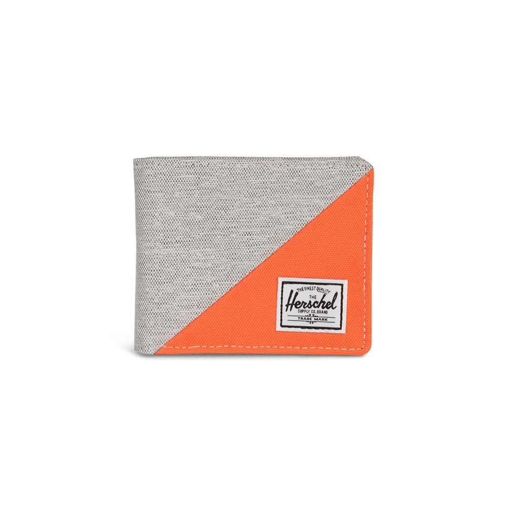 Herschel Supply Co. Roy RFID wallet light grey crosshatch/vermillion orange - 10363-02212-os