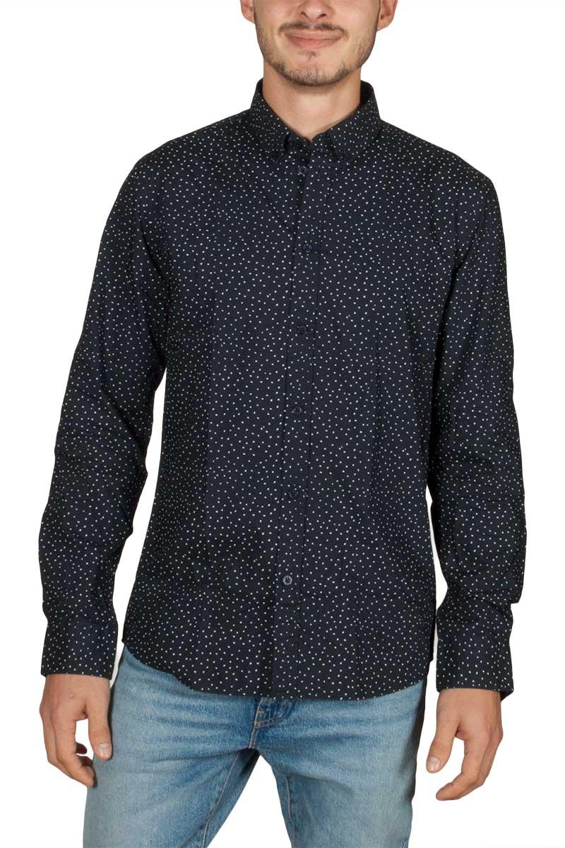 Minimum Walther long sleeve shirt navy