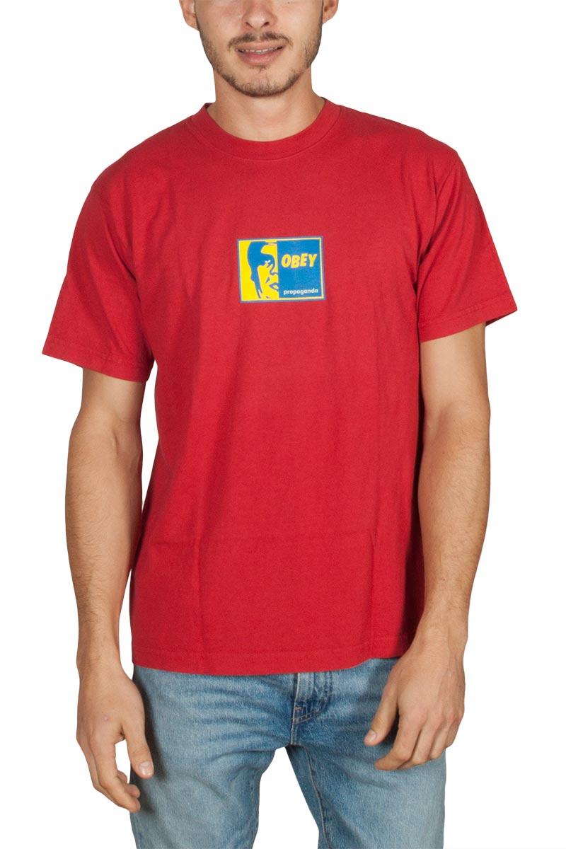 d2a82a390e95 Obey Slap on ανδρικό t-shirt κόκκινο - 166911770