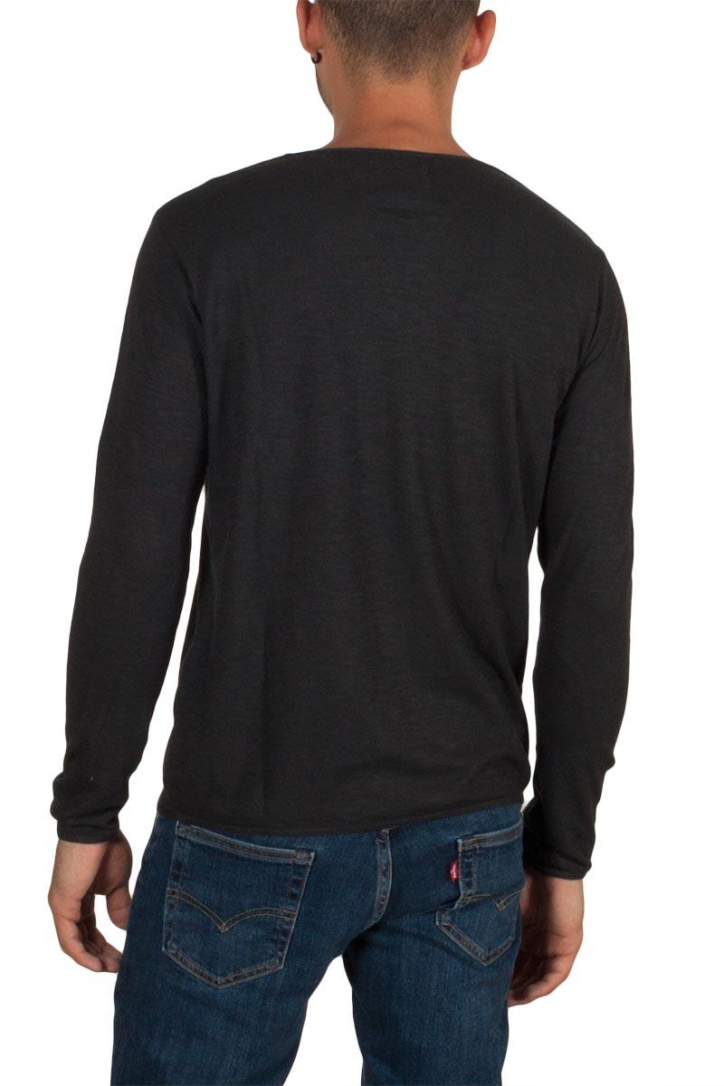 Thinking Mu ανδρική hemp μακρυμάνικη μπλούζα σκούρο γκρι