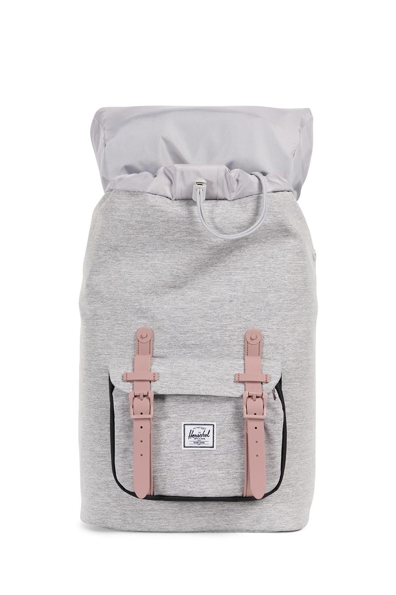 Herschel Supply Co. Little America mid volume backpack light grey crosshatch/ash rose/black