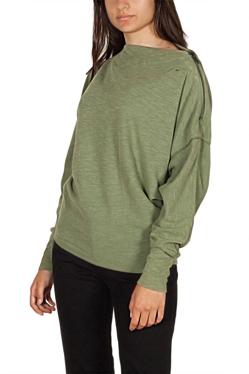 Free People Nikala μακρυμάνικη μπλούζα πράσινη - ob840688