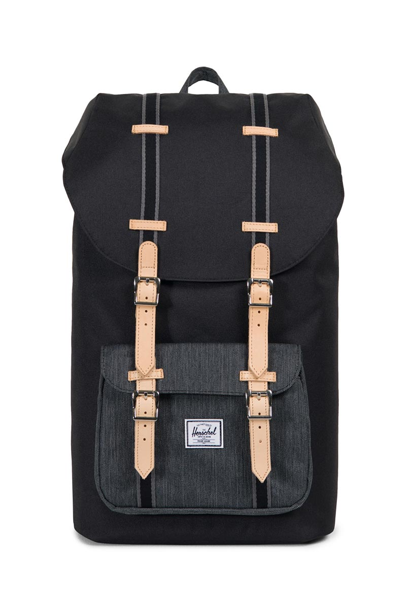 e271b70860b Herschel Little America Offset backpack black black denim