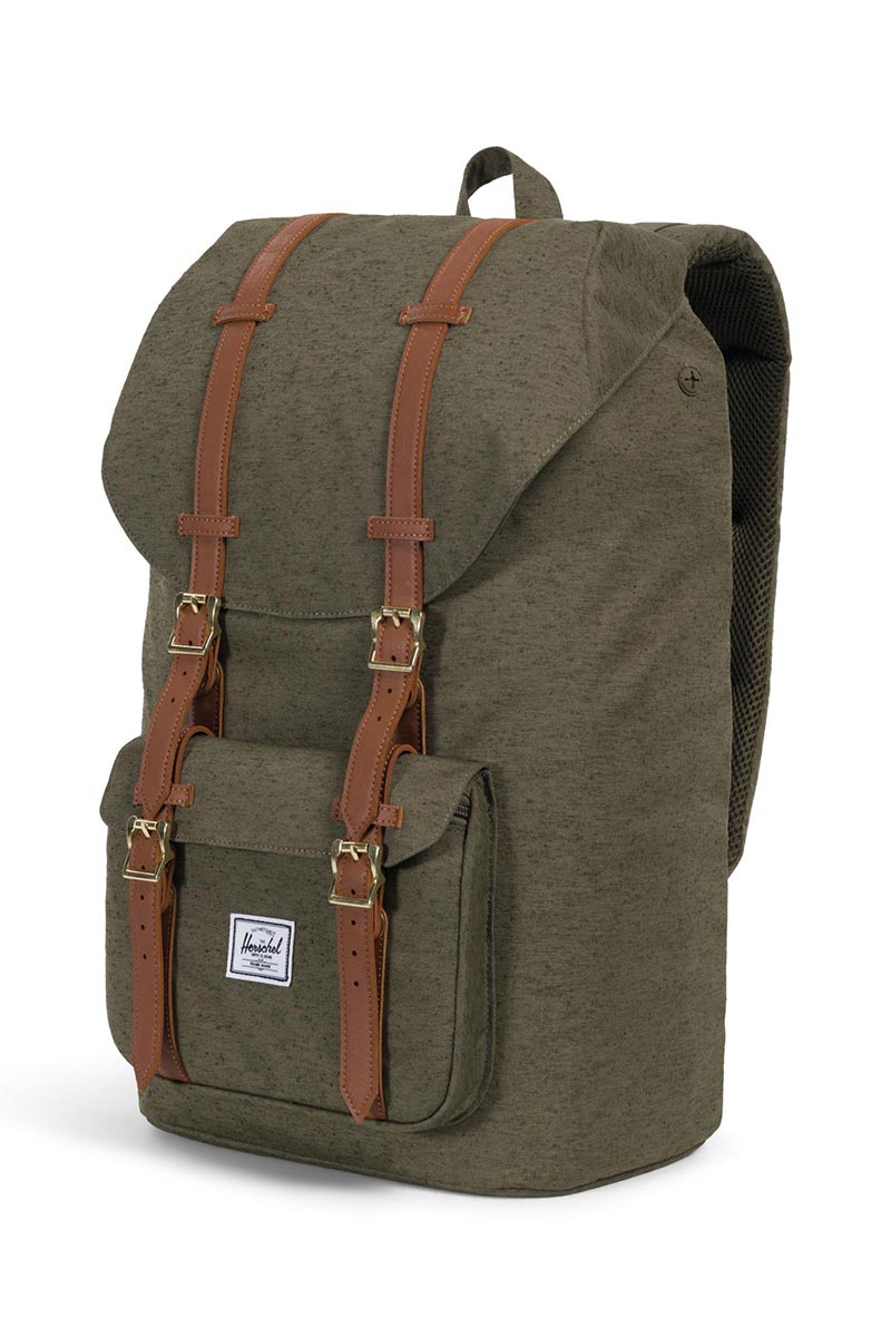Herschel Supply Co. Little America backpack ivy green slub/tan