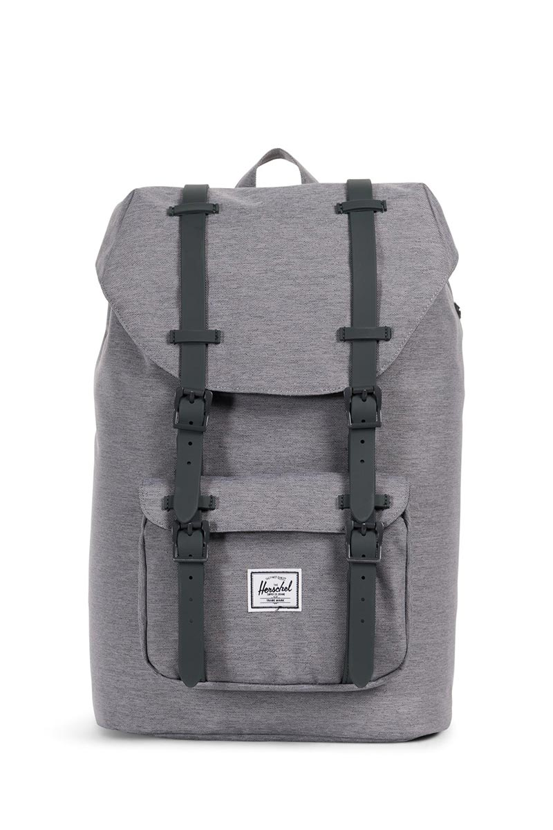 Herschel Supply Co. Little America mid volume backpack mid grey crosshatch - 10020-02137-os